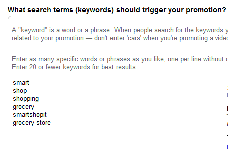 youtube adwords keywords