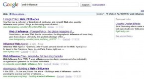 "Influencing Google on ""Web Influence"""