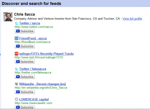 google reader discover feeds