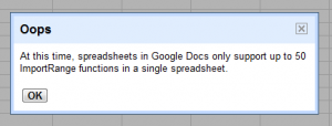 googledocs limit importrange