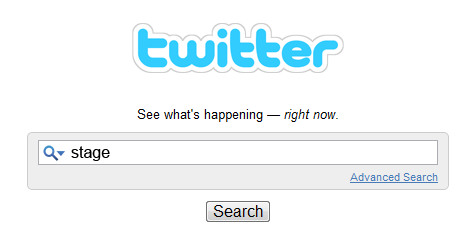 twitter search stage