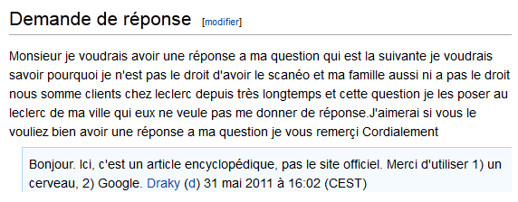 wikipedia discussion eleclerc