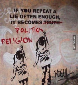 lies politics religion