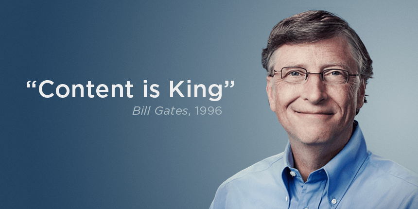 content is king bill gates