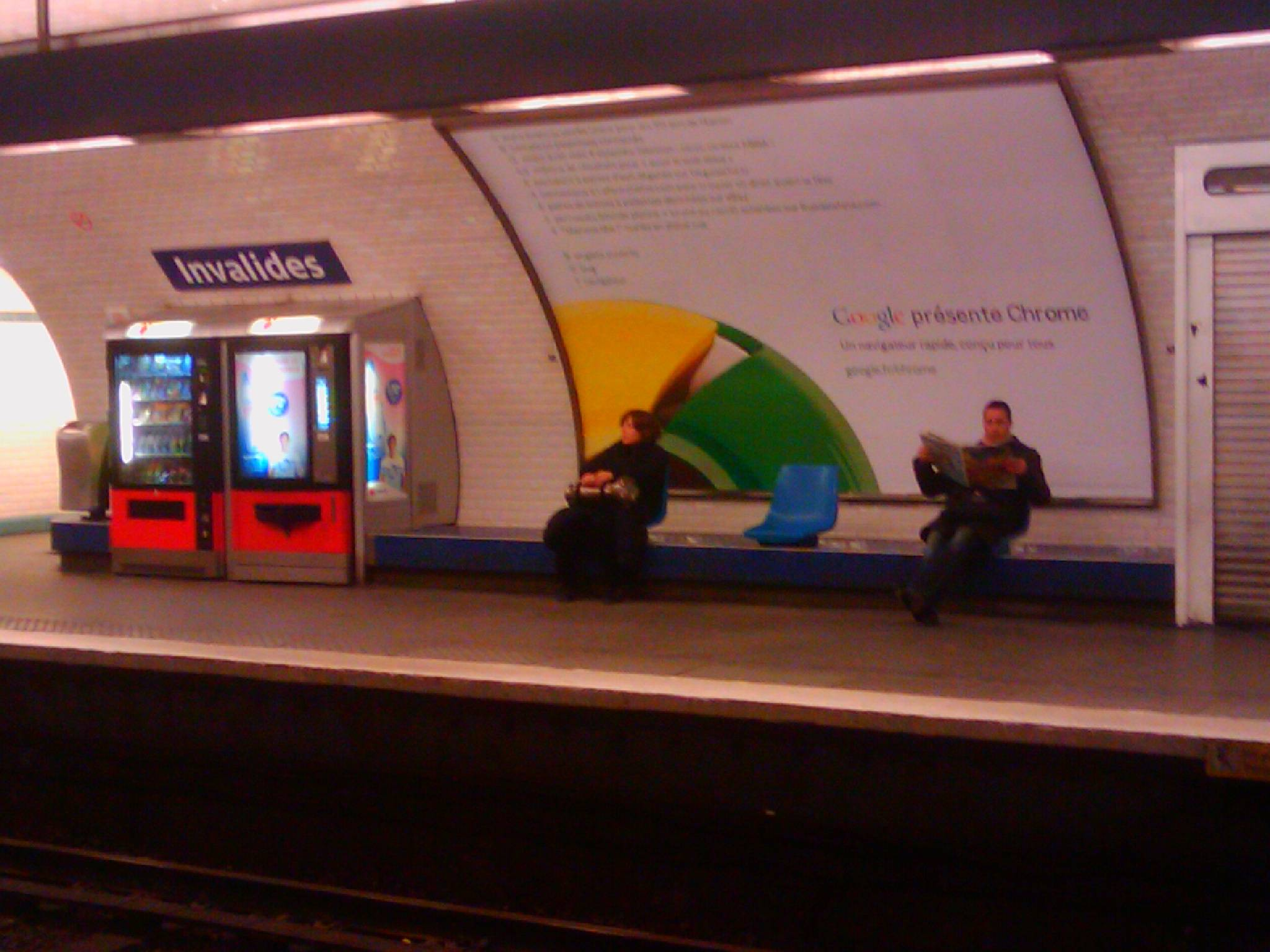google chrome publicite