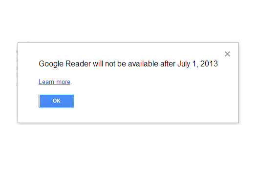 google reader end